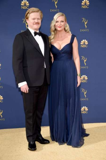 El actor Jesse Plemons con su pareja, la actriz Kirsten Dunst.