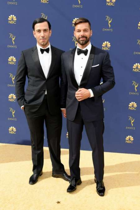Ricky Martin llegó acompañado de su marido, Jwan Yosef.