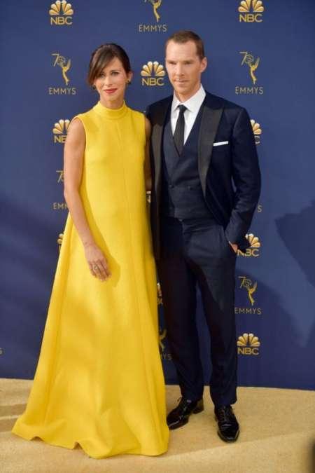 Benedict Cumberbatch junto a su mujer, Sophie Hunter.