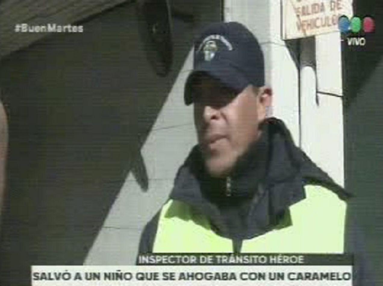 Agente de tránsito salvó la vida de un menor en el microcentro