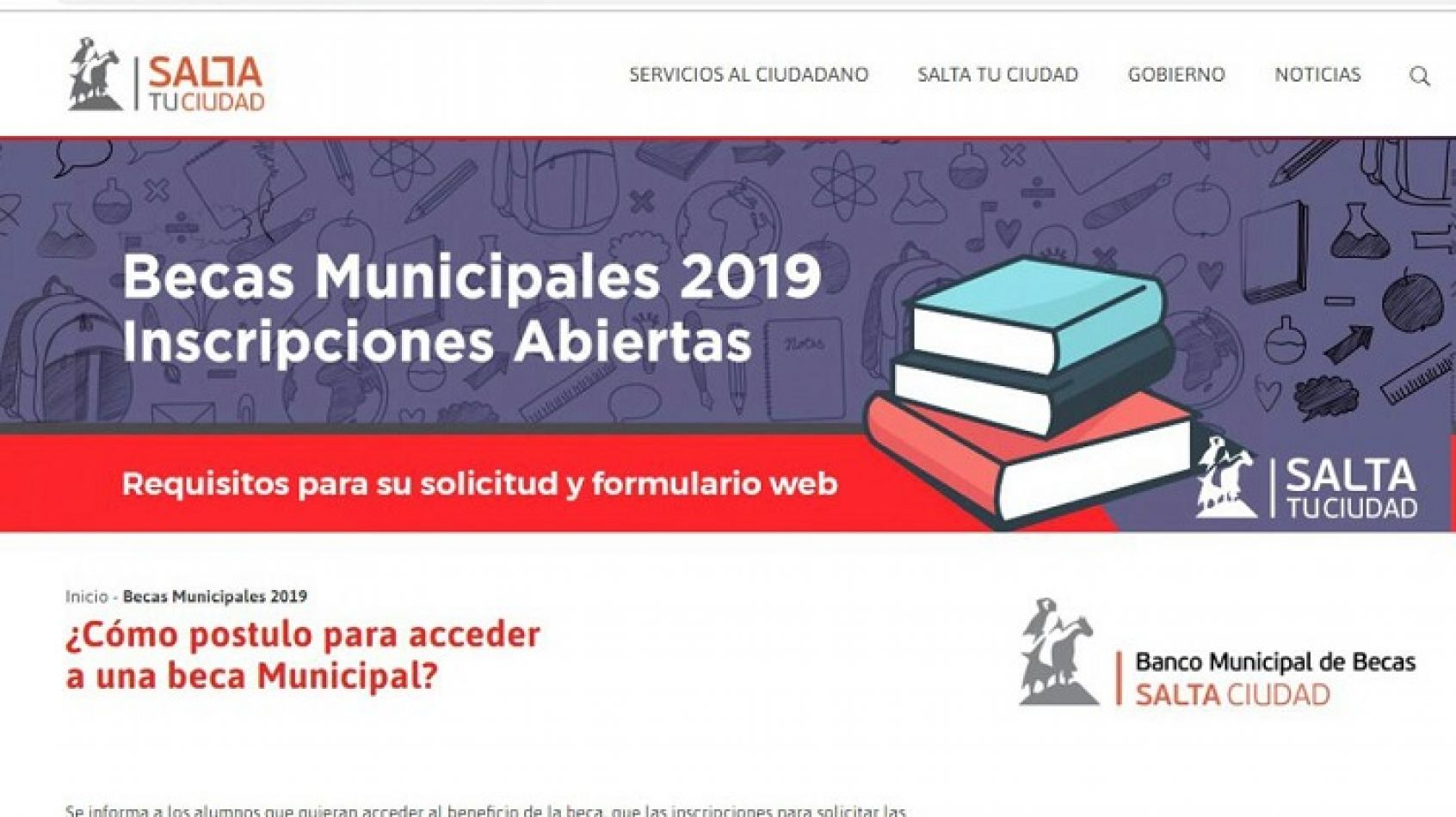 Estas son las instituciones educativas que otorgan Becas de la Municipalidad