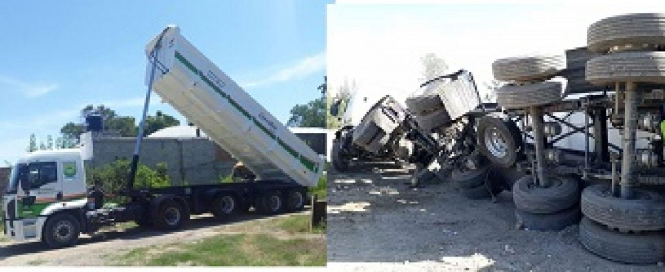 Un empleado municipal de Cerrillos volcó tres vehículos de gran porte, piden sanciones