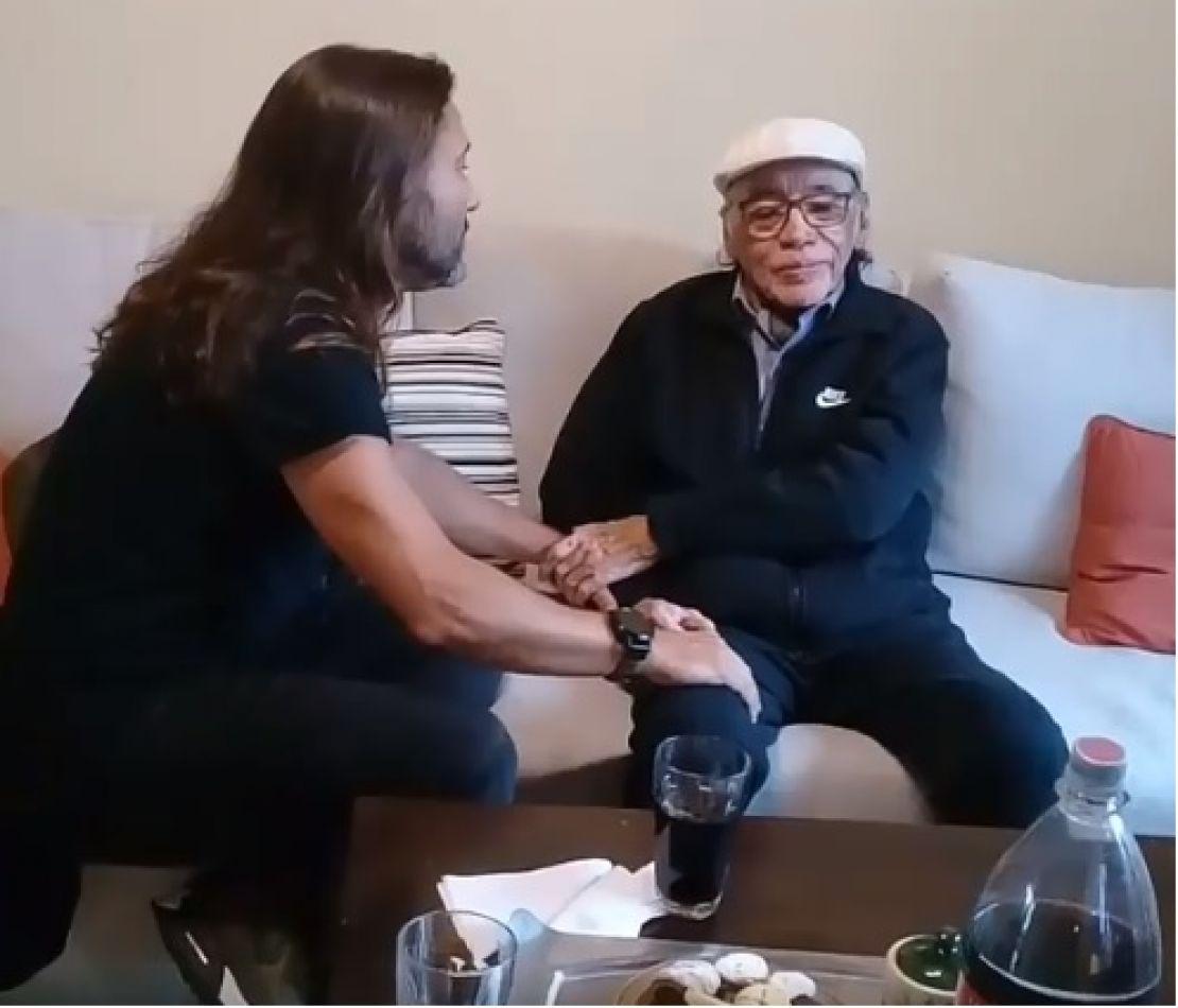 Antes de su recital, Diego Torres visitó a Daniel Toro en Salta