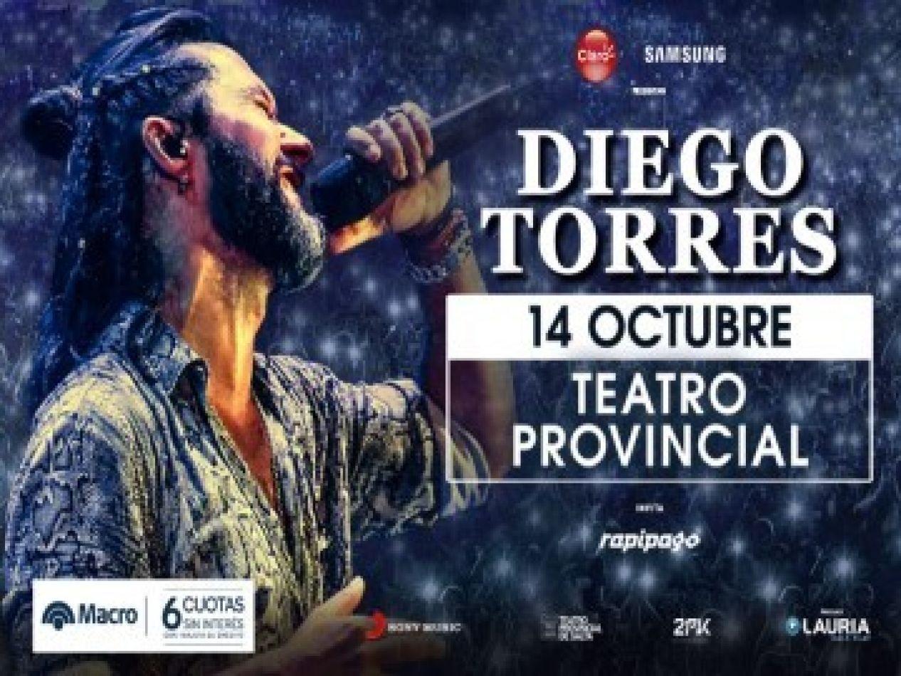 Confirman la nueva fecha de Diego Torres en Salta, será este domingo