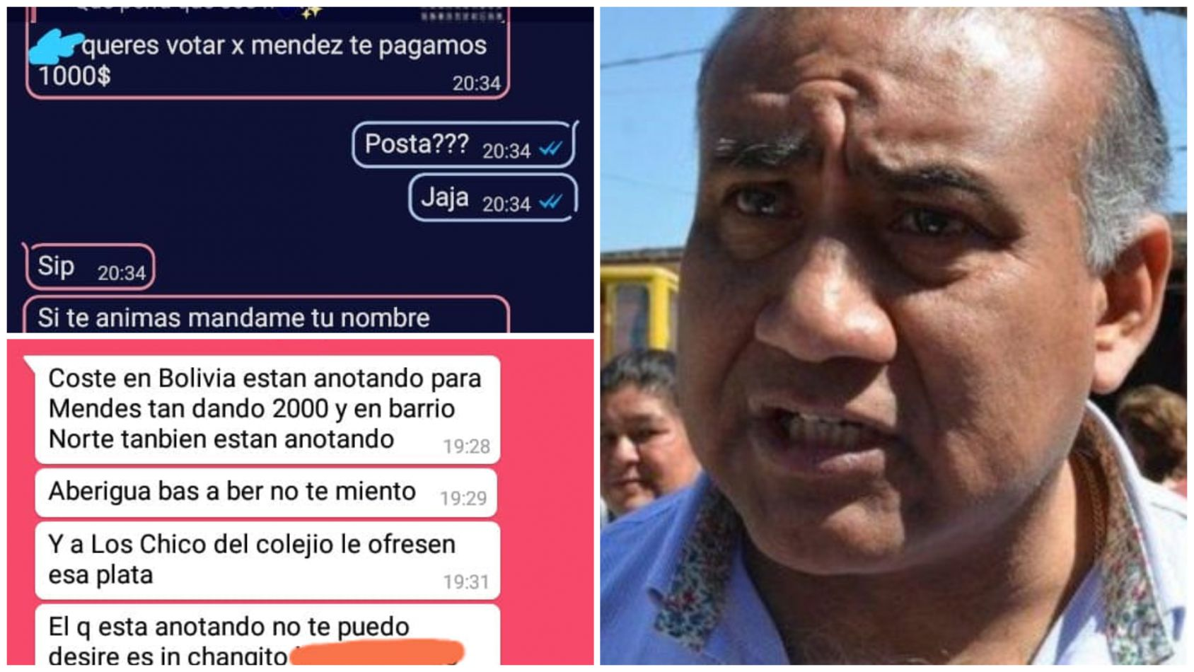 """En Salvador Mazza buscan votantes a cambio de $2000"", la grave denuncia contra Méndez [FOTOS]"