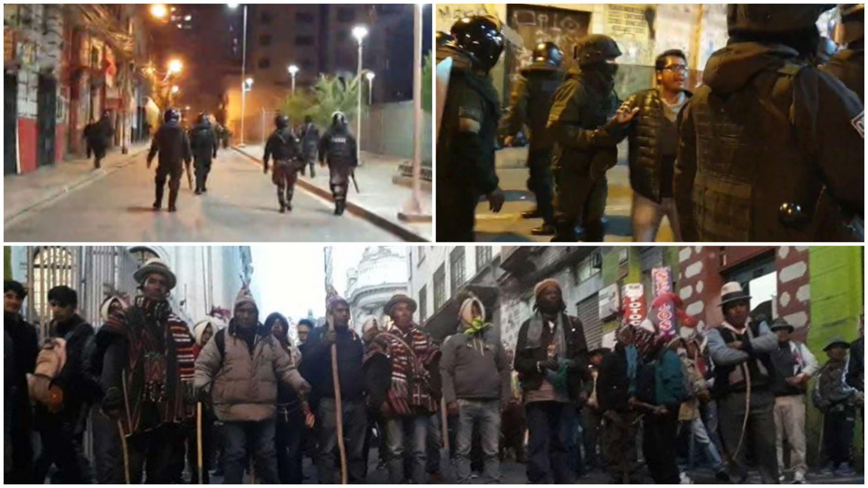 Guerra campal en Bolivia: cientos de bolivianos se agarraron a los tiros en La Paz