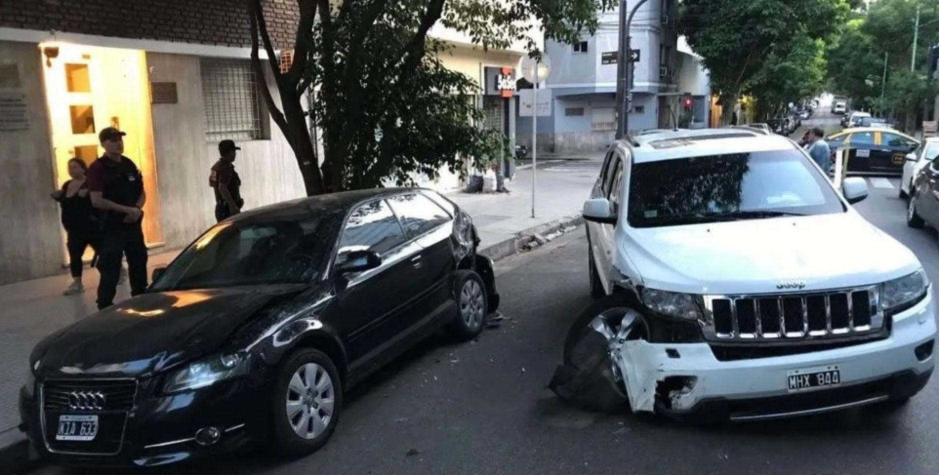 Belgrano:  Manejaba una camioneta borracho y chocó a tres autos estacionados