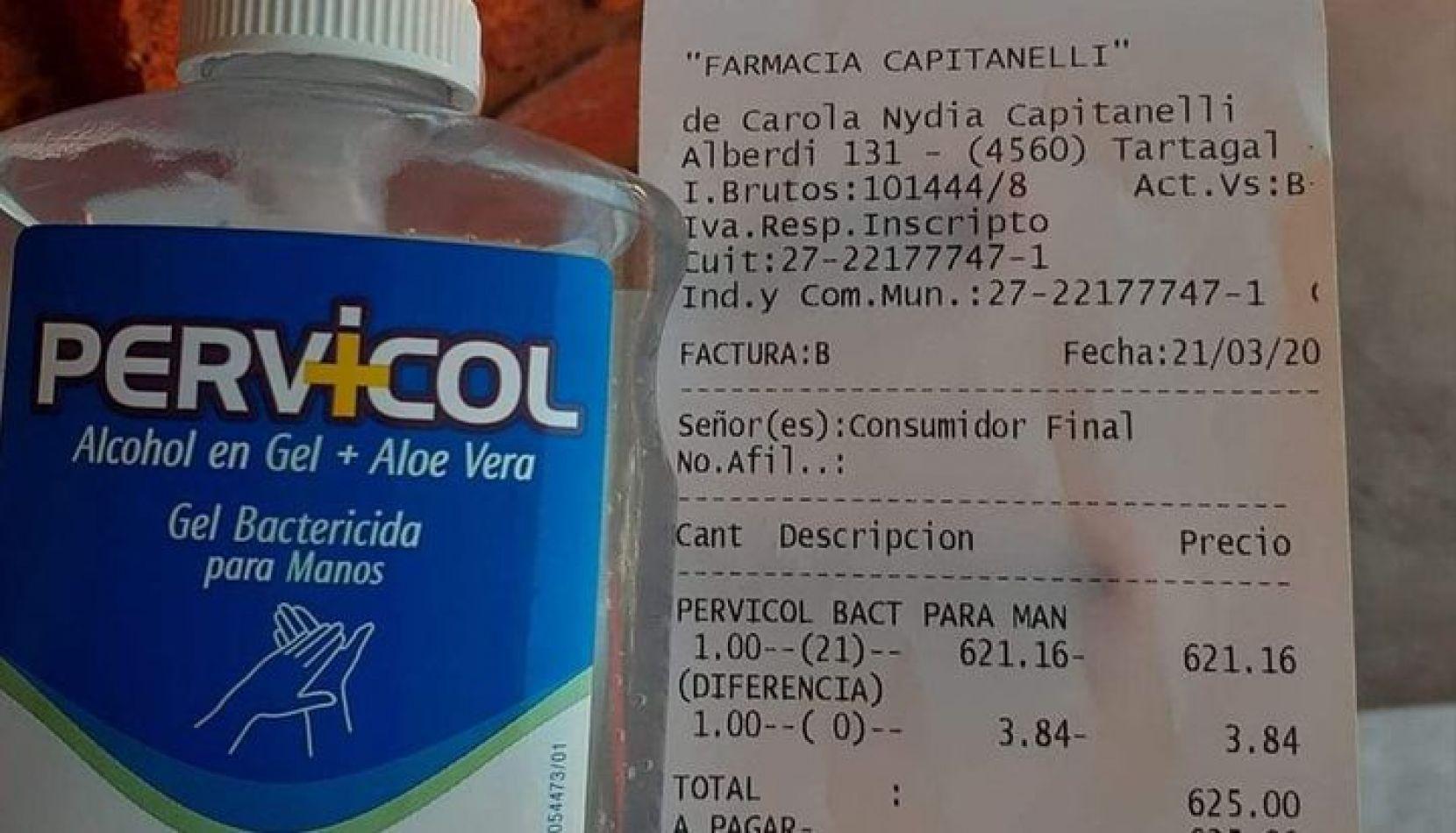 Tartagal: indigna el precio del alcohol en gel