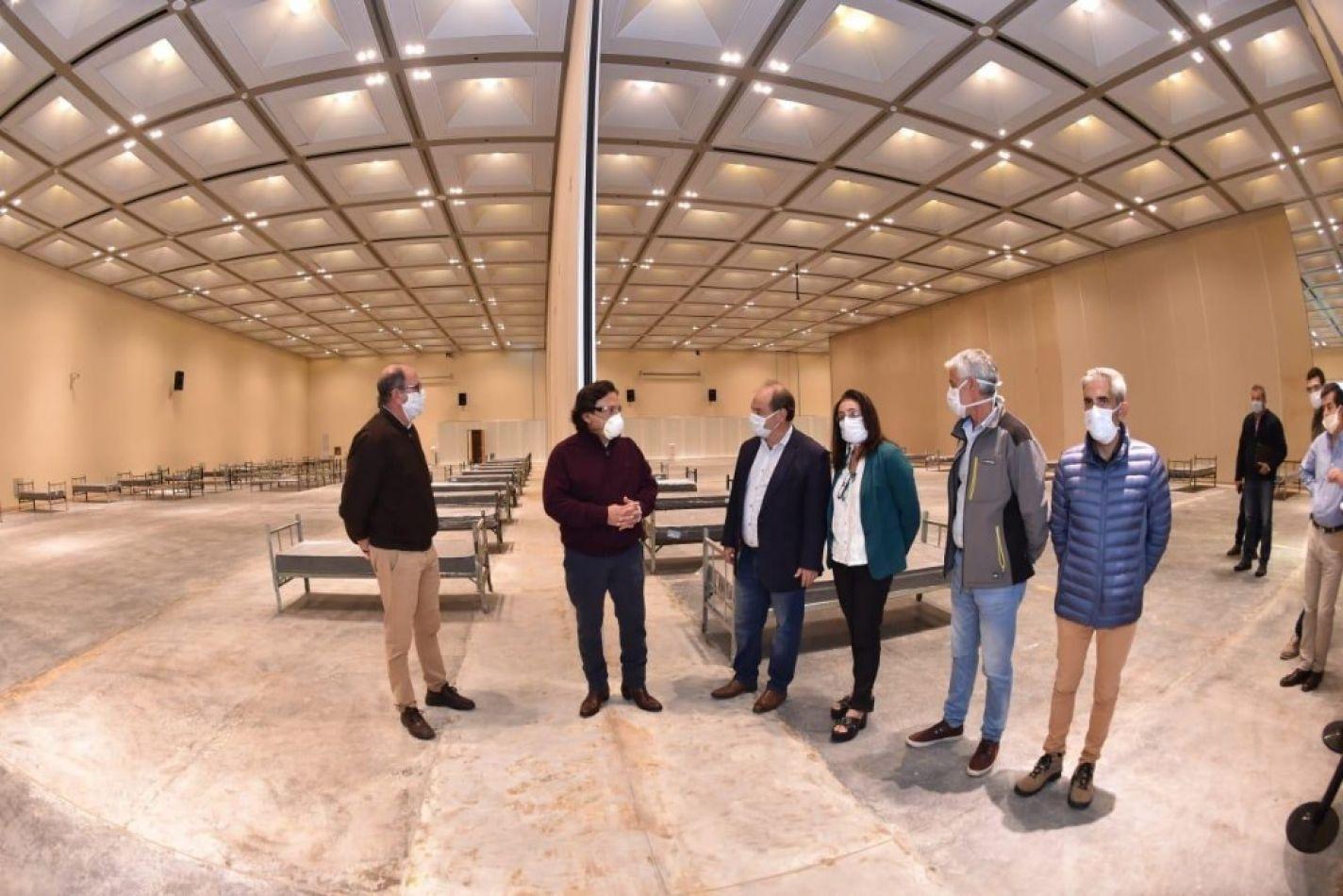 COVID-19: Sáenz supervisó la finalización de los trabajos de remodelación en el Centro de Convenciones de Limache