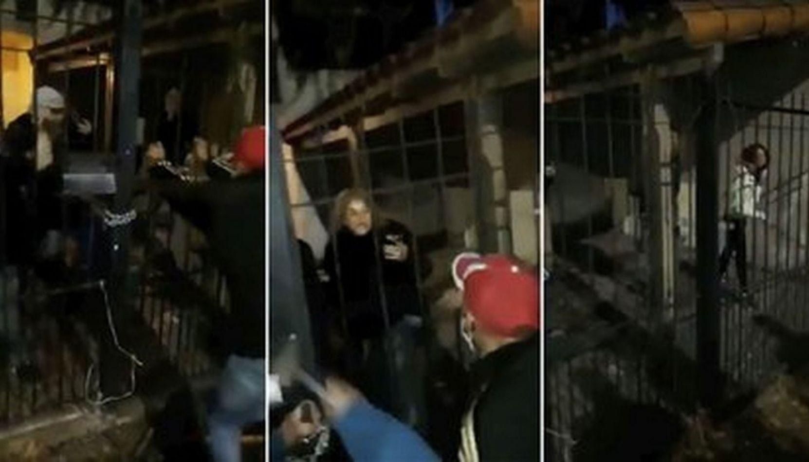 VIDEO Usurparon una casa y atacaron a los que quisieron impedirlo con una motosierra