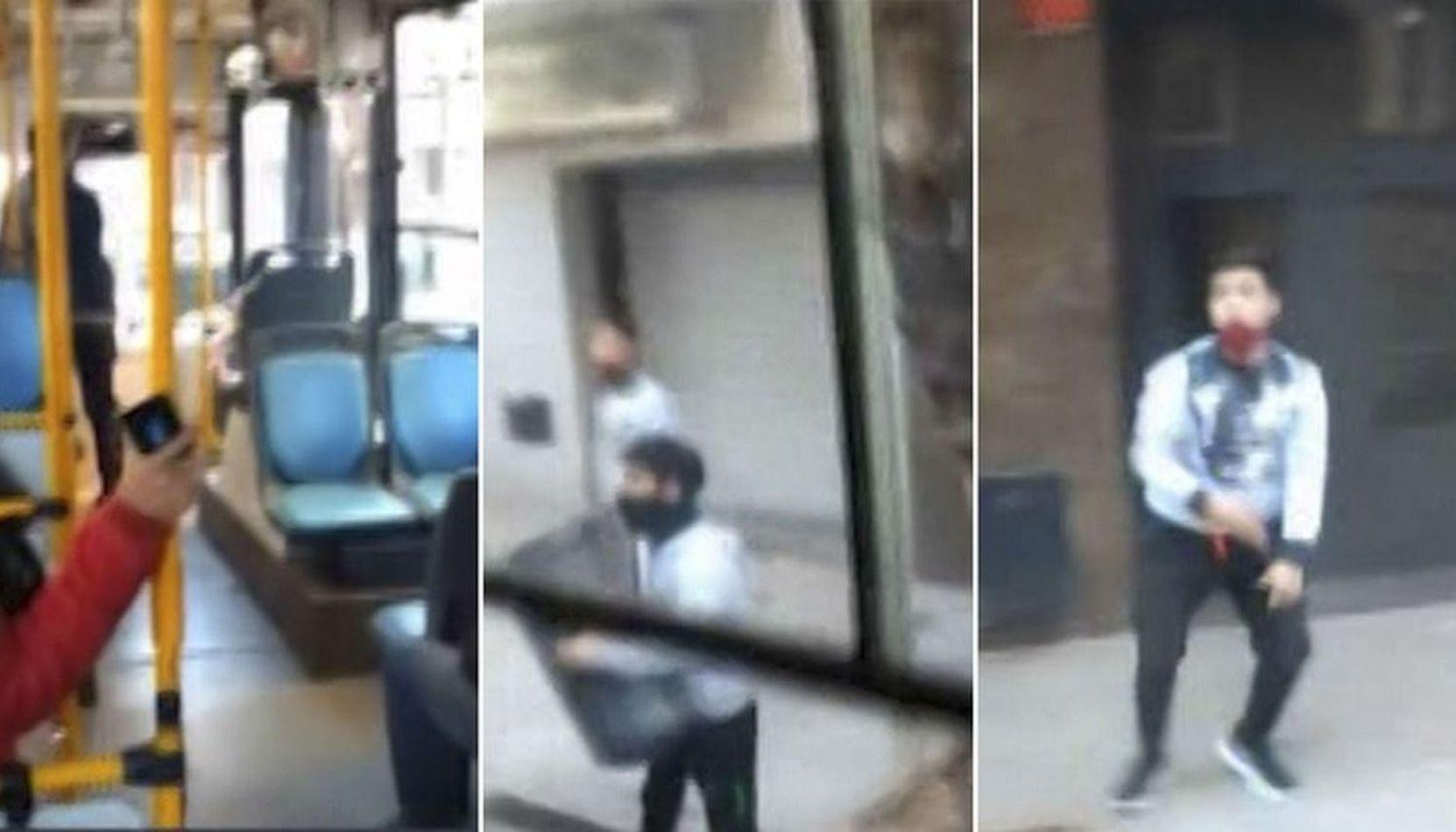 "VIDEO Un colectivero se enfrentó con dos ladrones: ""Vayan a laburar, pungas"""