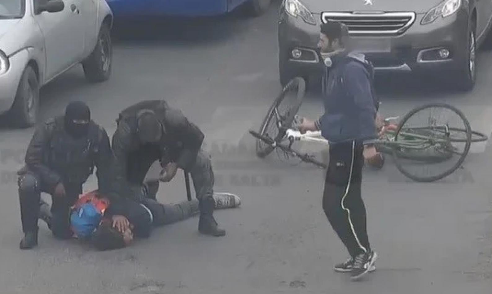 Rotundo apoyo al accionar policial en el caso de los ciclistas violentos y la conductora