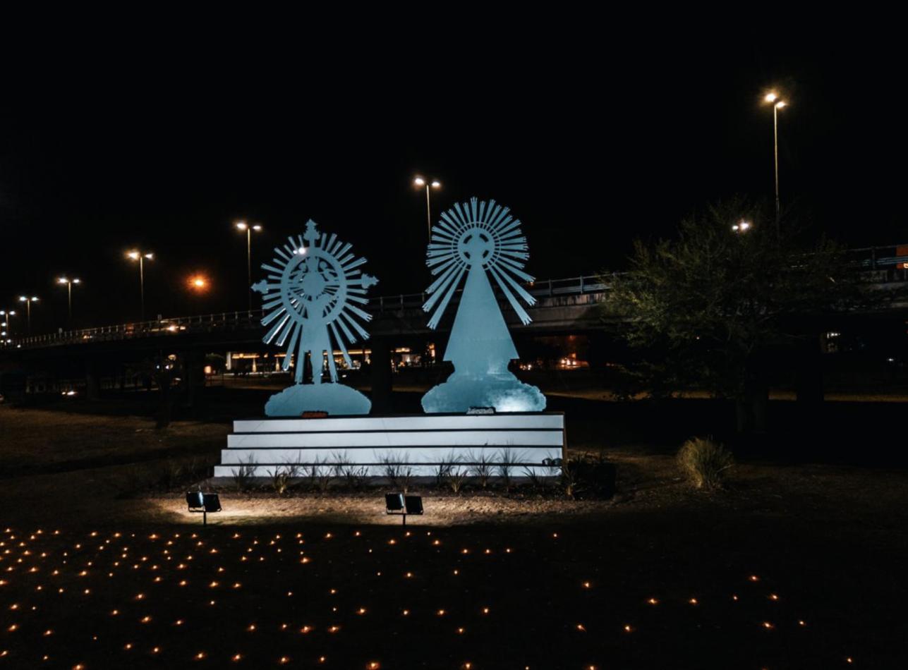 Homenajearon a los Peregrinos en la rotonda de Limache