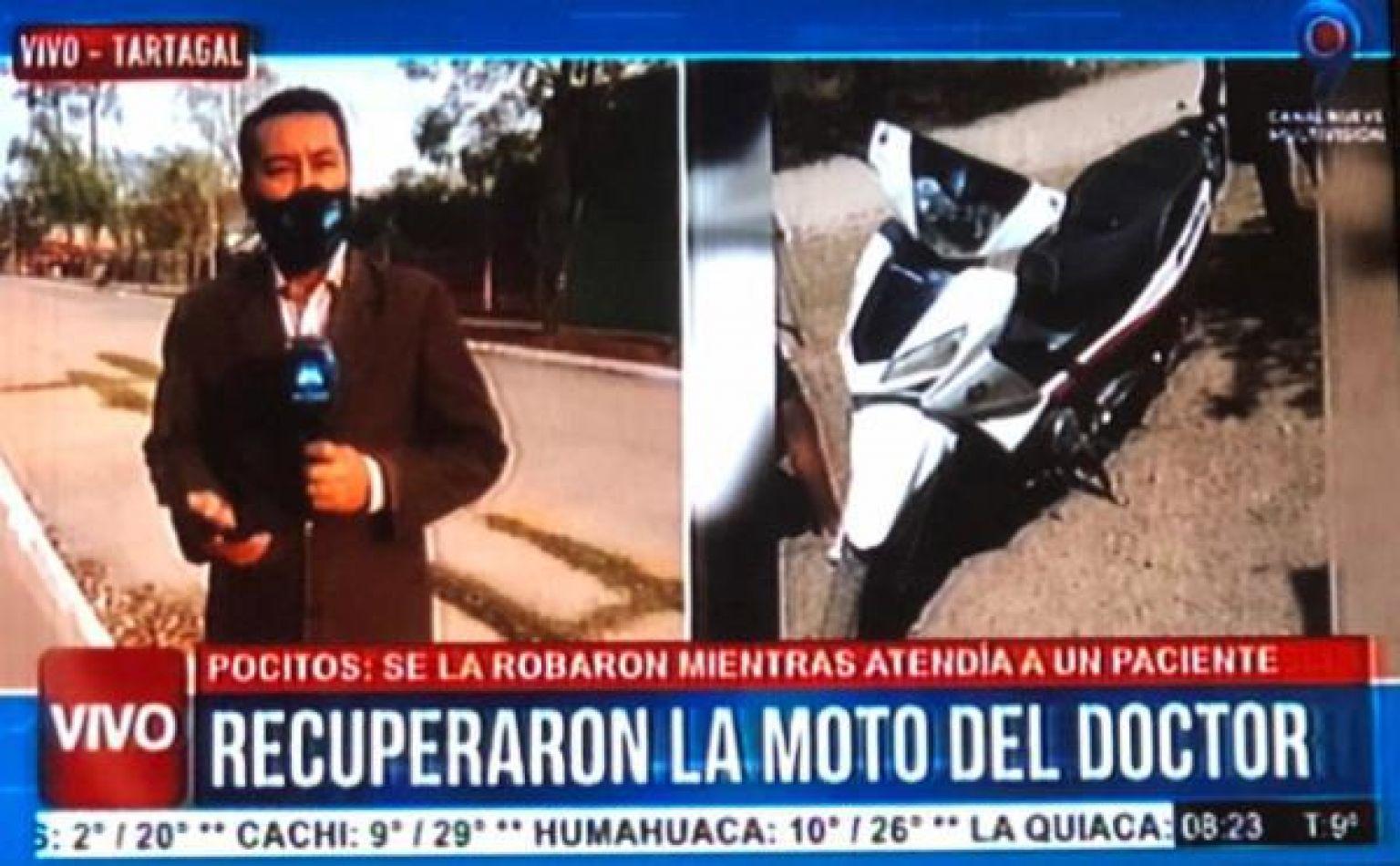 Salvador Mazza: Médico atendía a un paciente y le robaron su moto