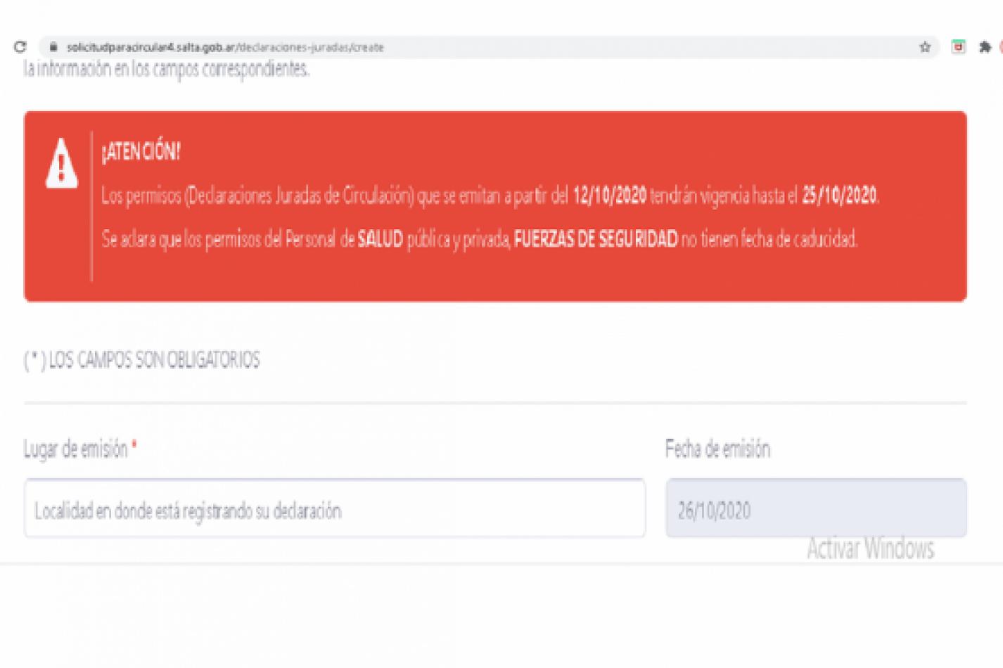Los departamentos que pasaron a DISPO deberán renovar el permiso de circulación