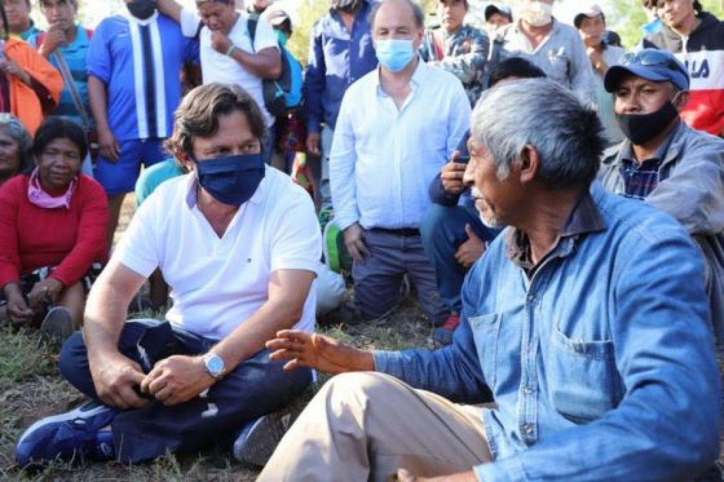 Sáenz encabezó un encuentro de diálogo y consenso con comunidades originarias