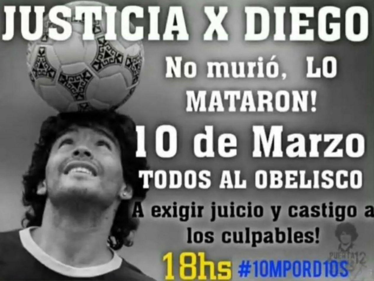 """Gianinna Maradona convocó a una marcha al Obelisco por Diego: """"No murió, ¡lo mataron!"""""""