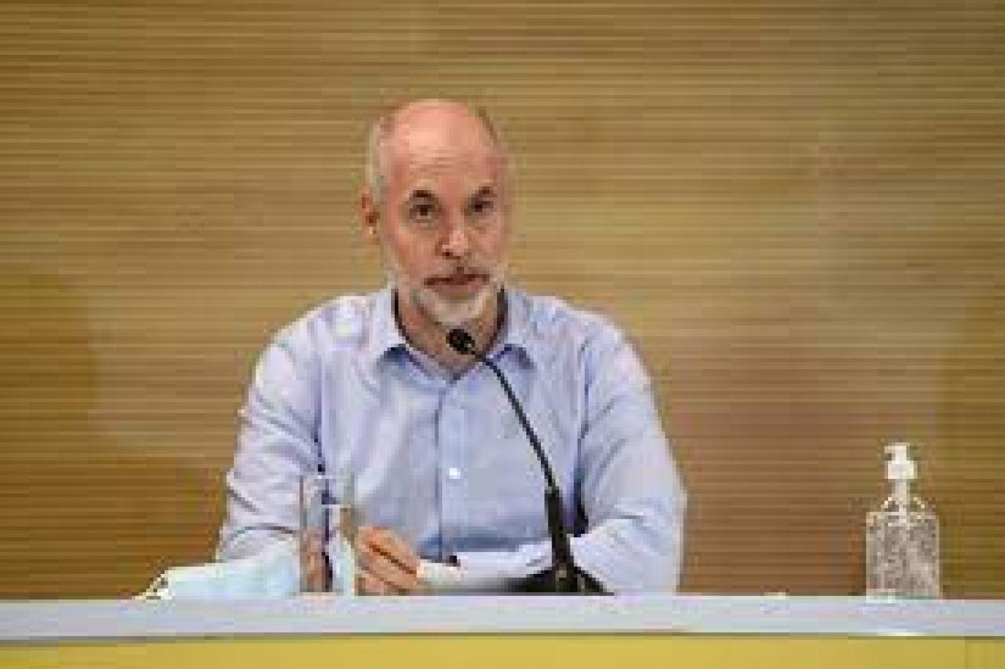 """Rodríguez Larreta: """"Habrá clases presenciales en las escuelas"""""""