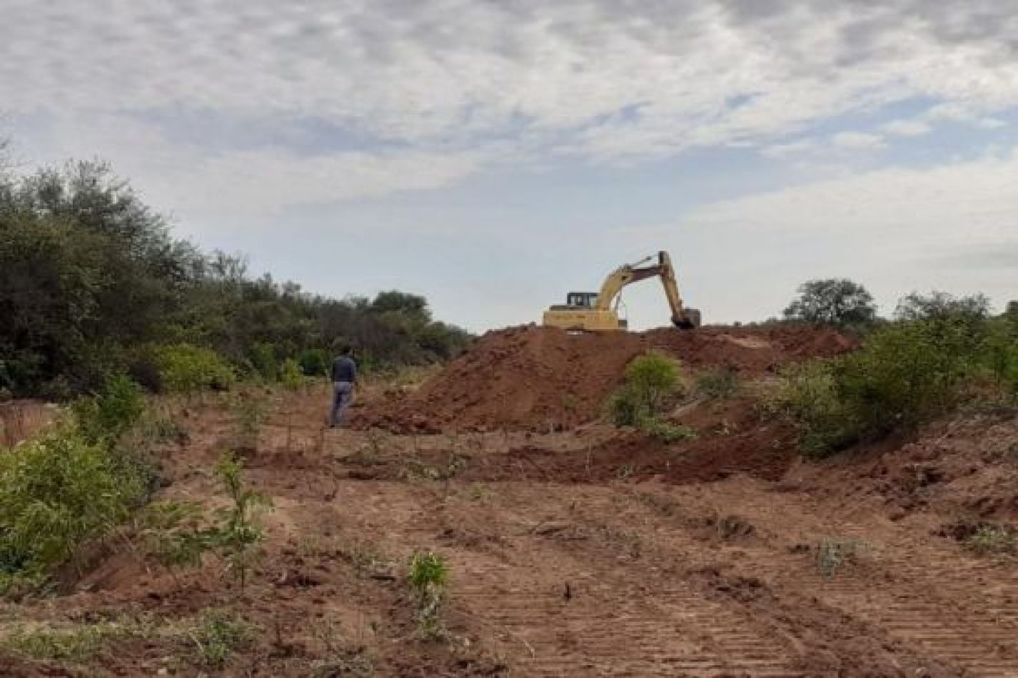 A fines de junio culminará la segunda etapa de obras de defensa en el río Pilcomayo