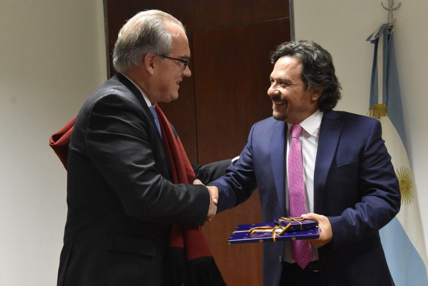 Sáenz recibió al embajador de Alemania en Argentina, Jürgen Christian Mertens