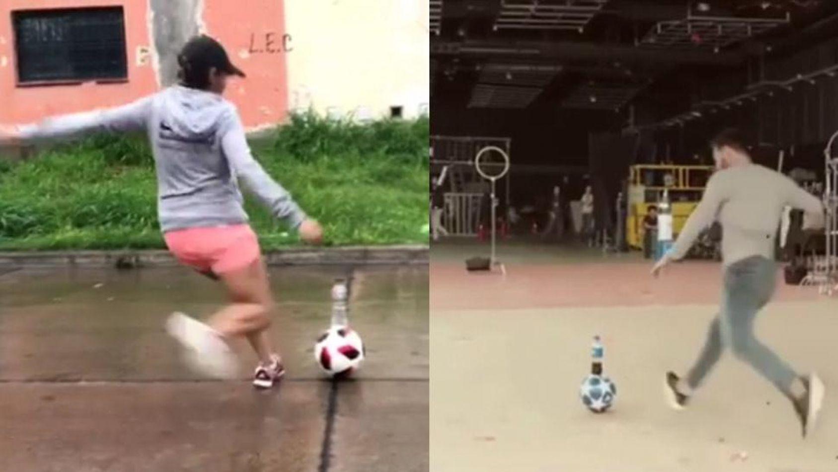 Una salteña se sumó a un reto viral y desafió a Messi