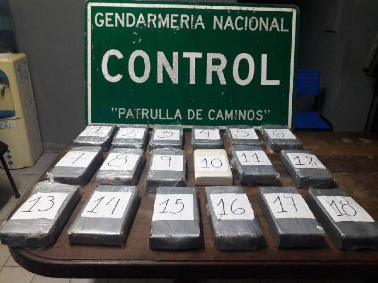 Intentó pasar más de 20 kilos de cocaína hacia Mendoza en un auto con sus hijos a bordo