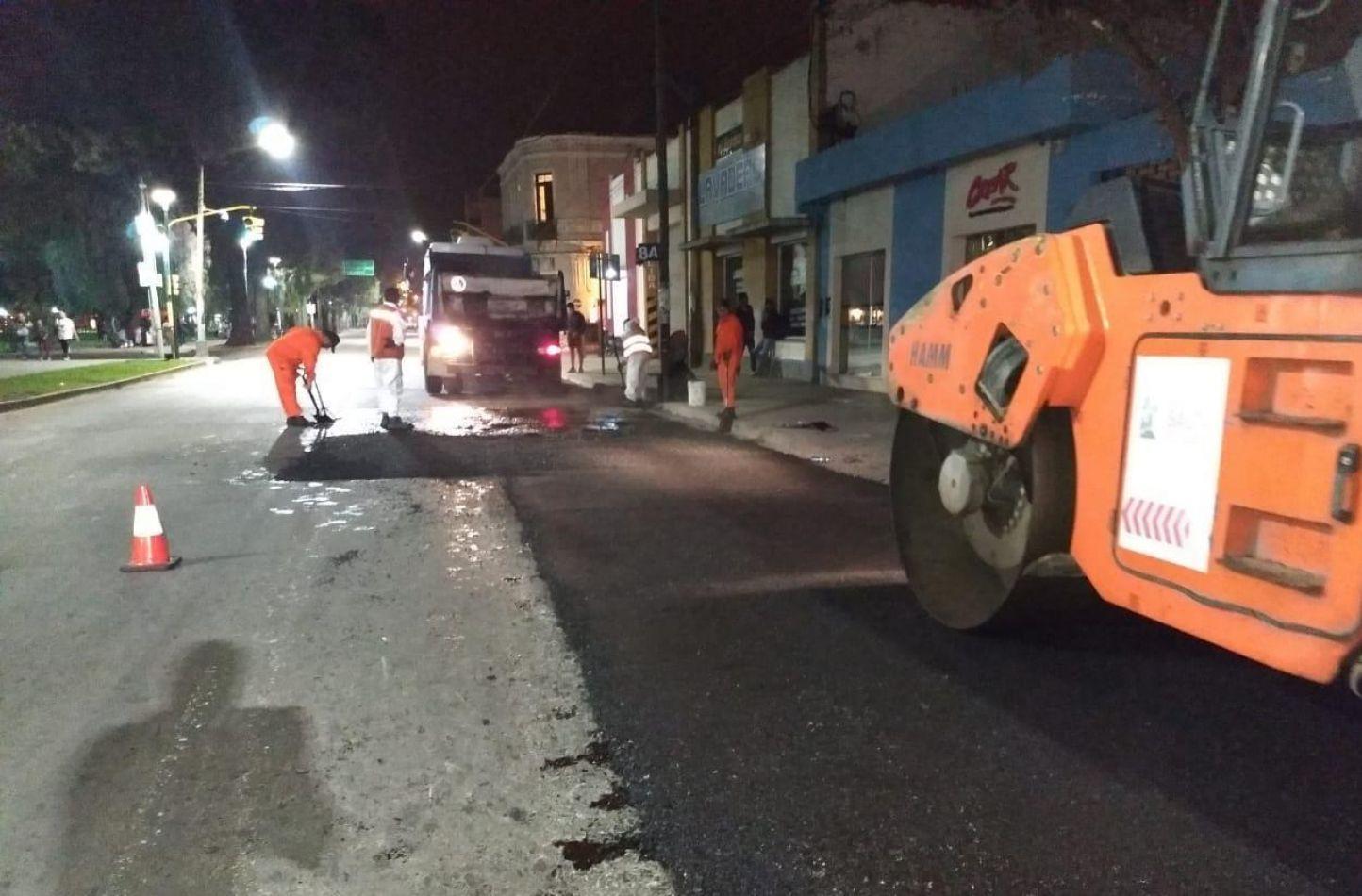 Duplicaron los trabajos nocturnos para recuperar calles de la ciudad