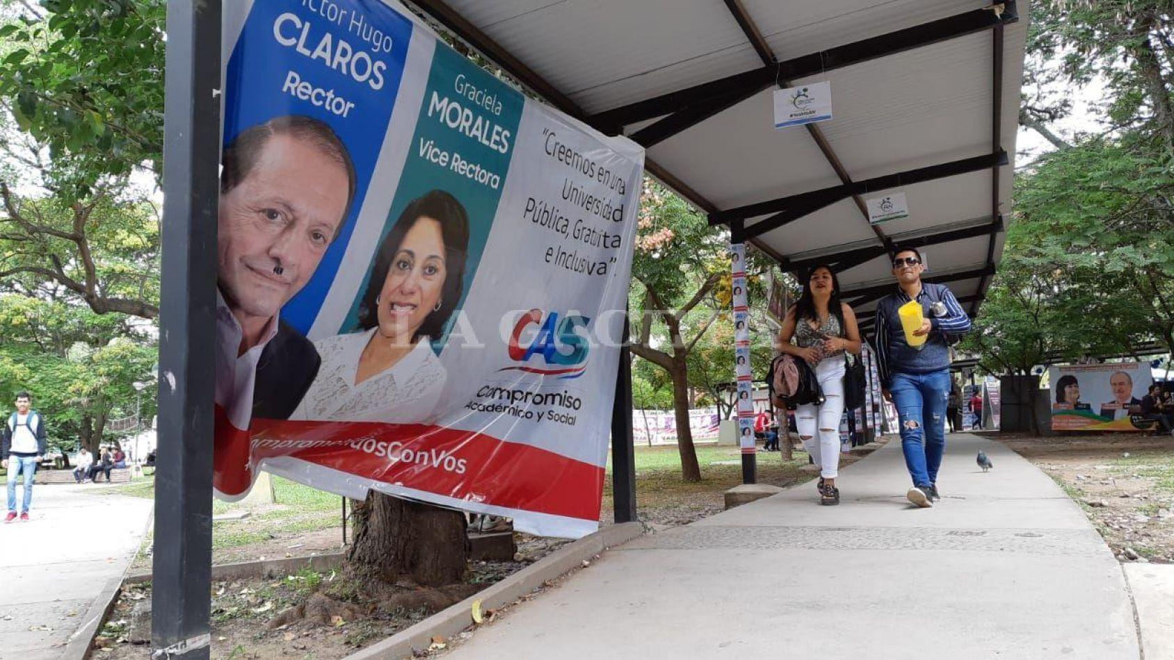 Elecciones en la UNSa: habrá ballotage el 26 entre Claros y Moya